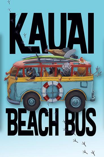 Bilodeau Beach Bus Postcard