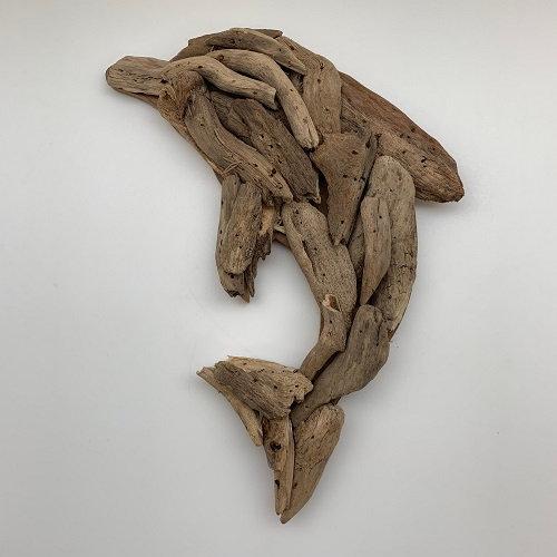 Driftwood Dolphin Wall Art