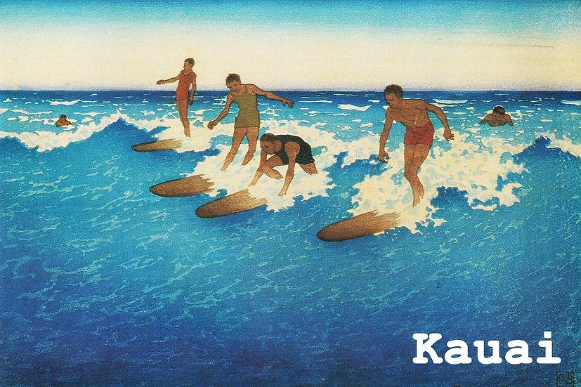 AB Surf Riders Postcard