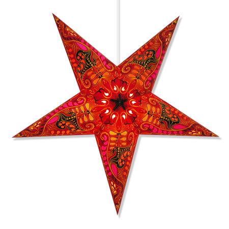 Filigree Star Lantern in Red