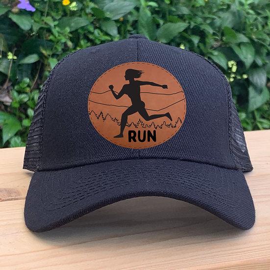 Run Patch Trucker Hat