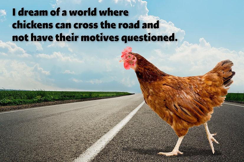 Chicken Motives Metal Sign
