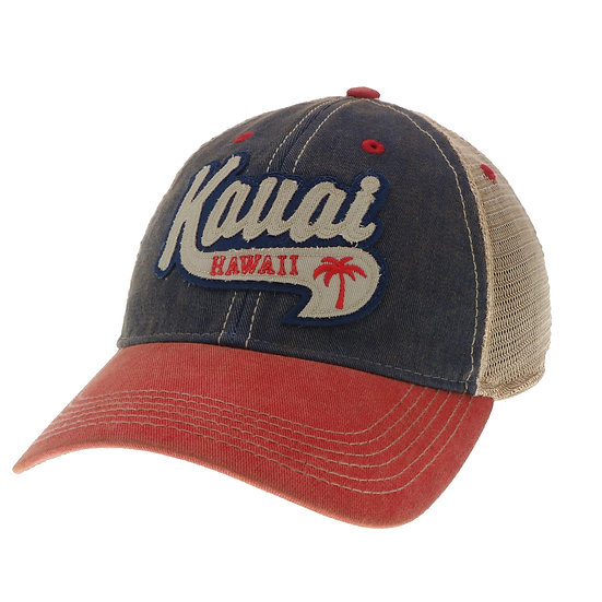 Whirled Planet Kauai Wave Palm Red/Blue Hat