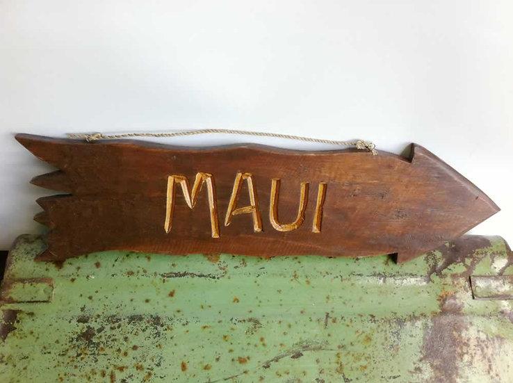Wood Maui Arrow Sign