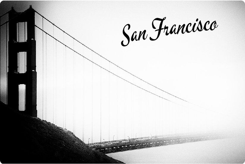 Foggy Golden Gate Postcard