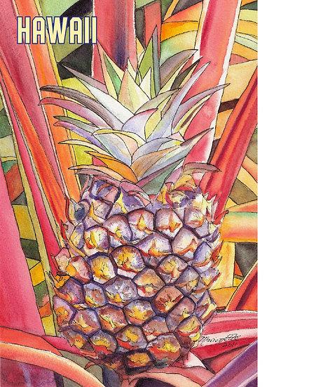MT Delightful Pineapple Postcard