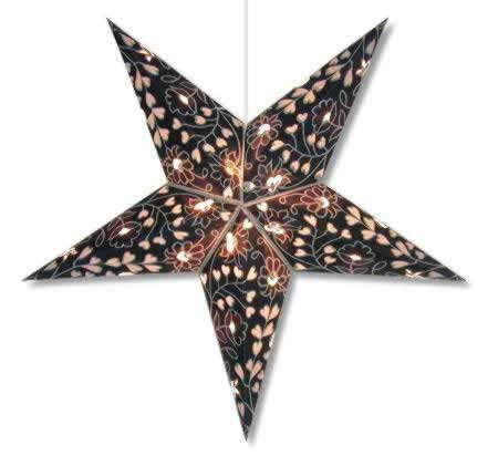 Hearts & Flowers Star Lamp Blue/Silver