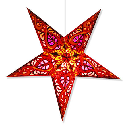 Celtic Star Lamp in Red