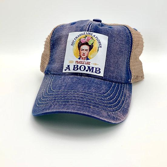 Frida Fragile Like  Bomb Trucker Hat