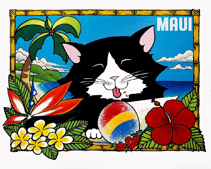 CH Shave Ice Kitty Postcard