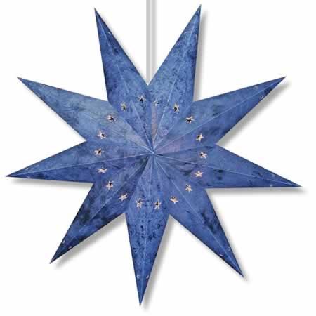 Batik Star Lamp Blue 7 point