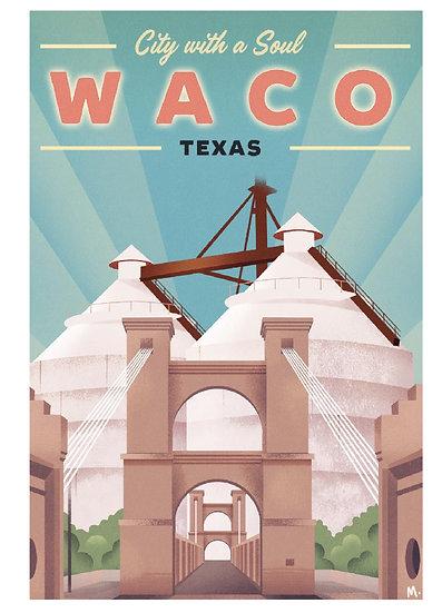 Wickstrom Waco Postcard