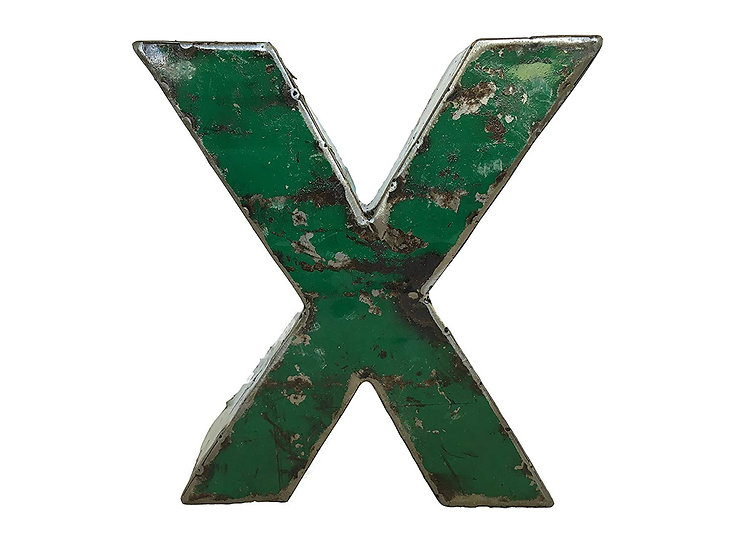 "Recycled Metal Letter ""X"""