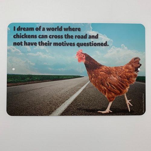 Chicken Motives Metal Sign 8x12