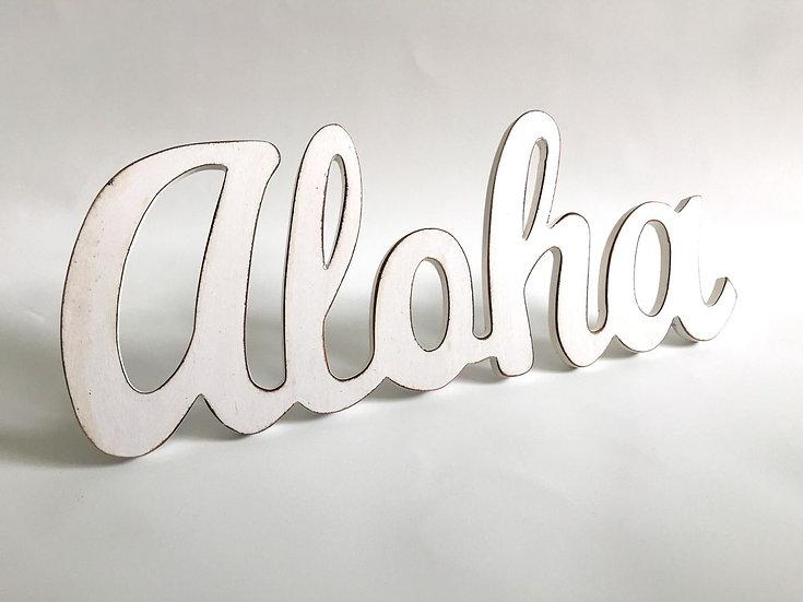 Aloha Word Sign with Dowel