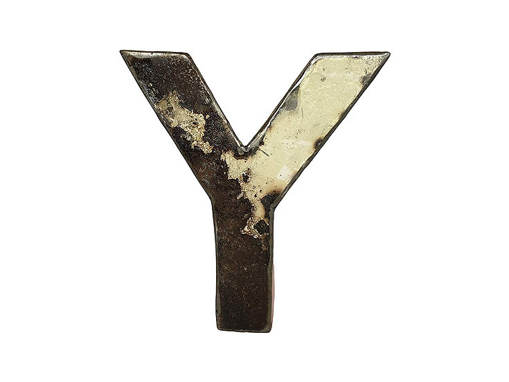 "Recycled Metal Letter ""Y"""