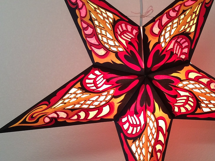 Red Hydra Star Lamp