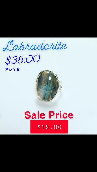 Labradorite Oval Ring