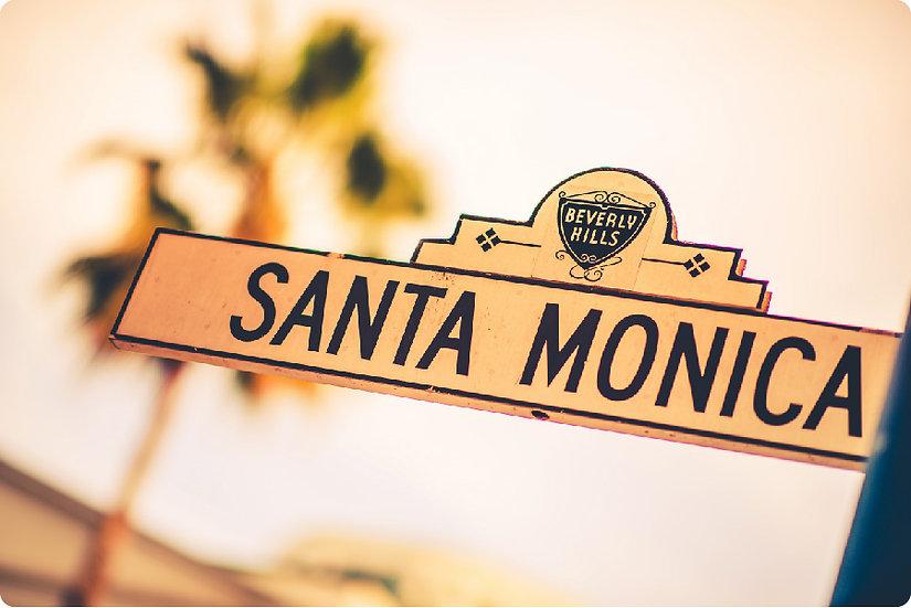 Santa Monica Blvd. Postcard