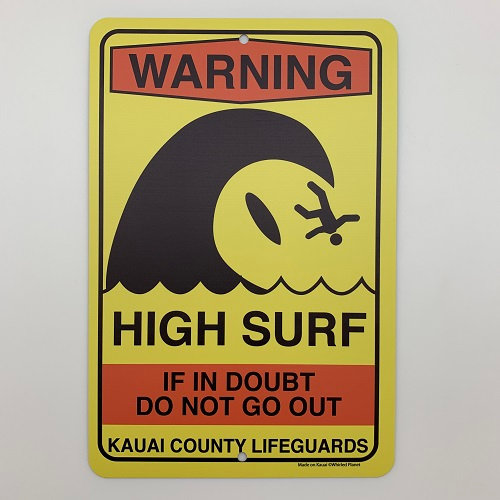 High Surf Metal Sign 8x12
