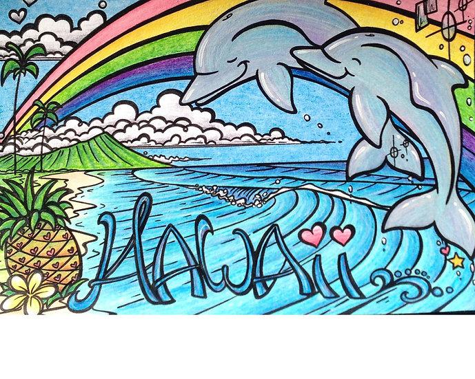 Ch Diamond Head Dolphins Postcard