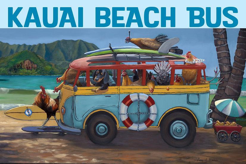 Bilodeau Beach Bus Full Postcard