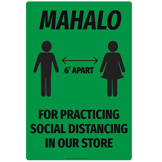 Social Distance Metal Sign 3 Pcs.
