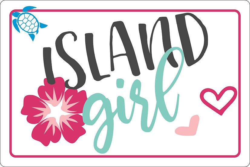 Island Girl Metal Sign