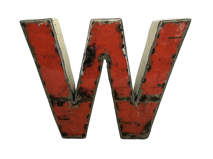 "Recycled Metal Letter ""W"""
