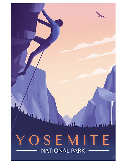 Wickstrom Yosemite Postcard