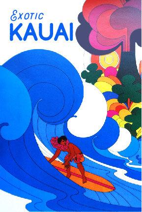 Vintage 60s Surfer Postcard