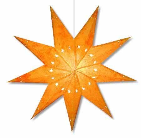Batik Star Lantern Yellow - 7 point