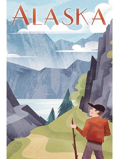 Wickstrom Hiking Postcard