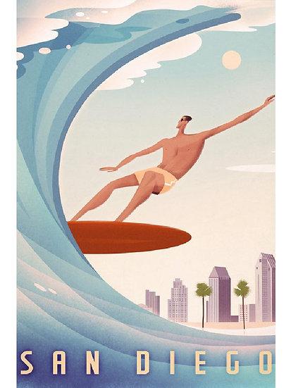 Wickstrom Metro Surfer Postcard