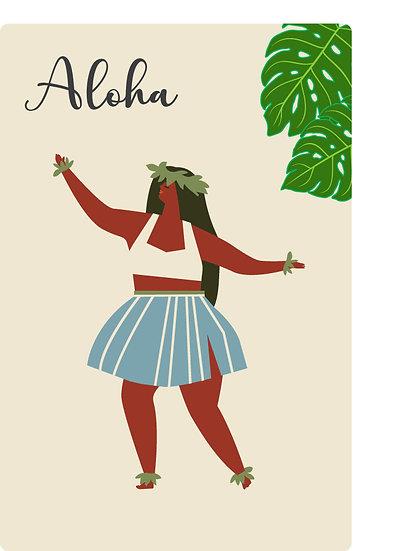 Hula Wahine Postcard