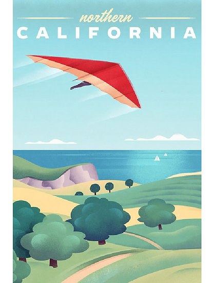 Wickstrom Hang Glider Postcard