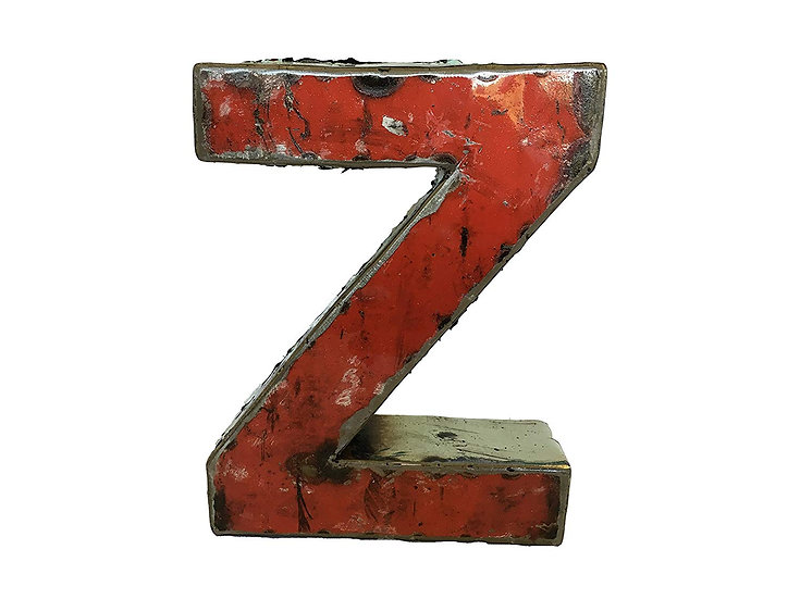 """Recycled Metal Letter """"Z"""""""