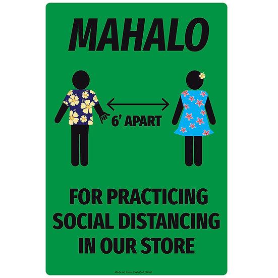 Social Distance Hawaii Metal Sign
