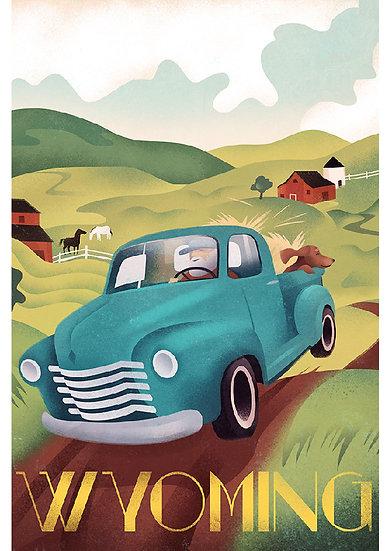 Wickstrom Country Pickup Postcard