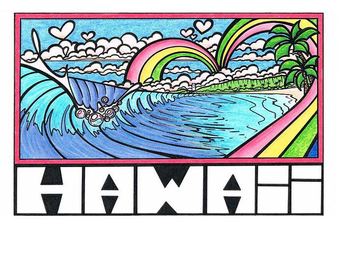 CH Waimea Rainbow Postcard