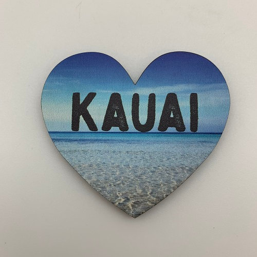 Kauai Beach Heart Magnet