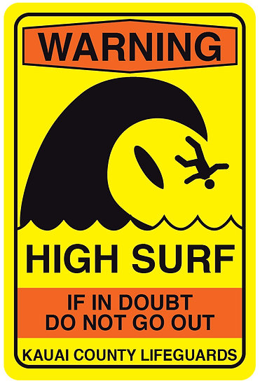 High Surf Metal Sign