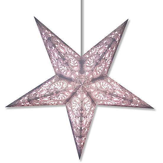 Paisley Space Gray Star Lantern
