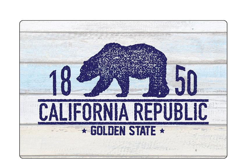 Distressed Bear Postcard