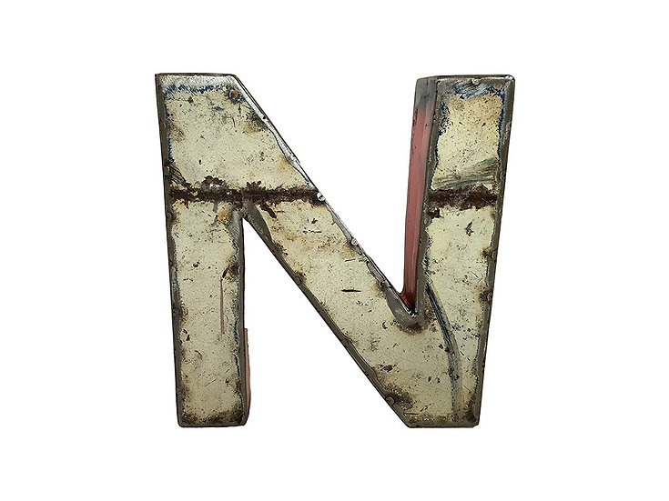 "Recycled Metal Letter ""N"""