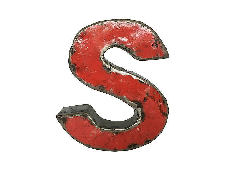 "Recycled Metal Letter ""S"""