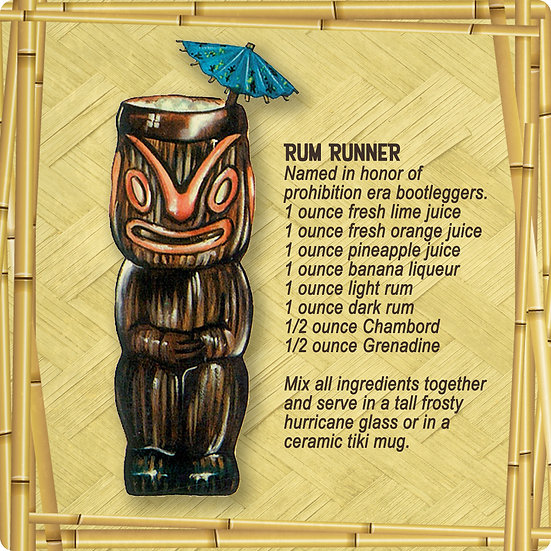 Tiki Drink Coaster