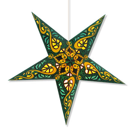 Celtic Star Lamp in Green
