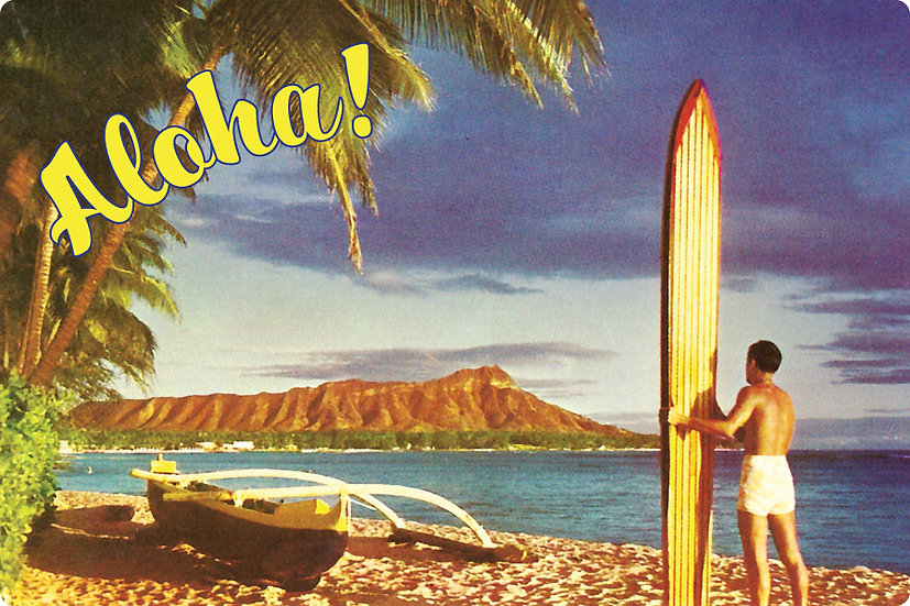 40s Surfer Postcard