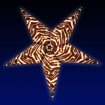 Zebra Print Star Lantern